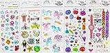 Spestyle gefälschte Tätowierungen, die in einem Paket reale 5pcs Kinder Karikatur gefälschte temporäre Tätowierung Aufkleber sehen, es einschließlich Meeresboden Tier, Pferde, Regenbogen, Monster, Uhren, Fahrräder, schöne Tiere temporäre Tattoos