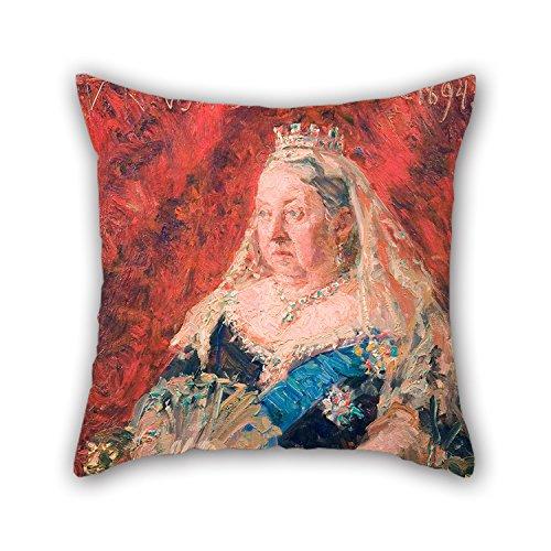 bestseason Ölgemälde Laurits Tuxen–Portrait Of Queen Victoria Weihnachten kissenrollen Best für Ehemann Coffee House Paare Weihnachten Küche 50,8x 50,8cm/50von 50cm (Zwei Seiten) (Rote Geometrische Tröster)