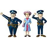 Micki Pippi Langstrumpf Figuren, Kling, Klang und die Tante Prusseliese, 11cm: für Puppenhaus Puppen Spielzeug Polizisten