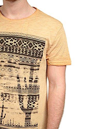 Poolman Herren Shirt Motiv T-Shirt Hellbraun