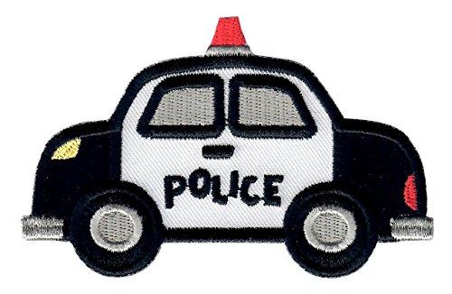 PatchMommy Parche Bordado Coche de Policia Parche Termoadhesivo - Parches y Apliques...