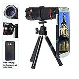 Becemuru cellulare fotocamera lente 4x -12x Zoom teleobiettivo + Super Wide Lens + 15x obiettivo macro con treppiede flessibile ad alta definizione, clip universale e custodia dedicata per iPhone, Samsung S7/S7Edge/S8/S8Edg