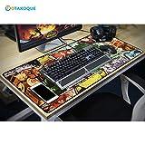 03ca8d4a123da4 Tapis de Souris MANGA ANIME pour gamer XXL  Tapis de souris ergonomique  Grande Taille (90x40x3) 900 400 3mm   Mouse Pad en Caoutchouc naturel  Antidérapant ...