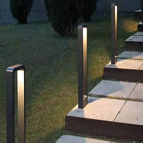 Vinmin Garten-Pfosten-Licht im Freien, modernes Design LED-Garten-Licht, dekorative geführte Poller-Licht-Landschaft führte Rasen-Lichtquader,800