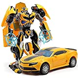 #10: Sterling Robot Mode Transformer Deformation Changeable To Car Toy For Kids (Yellow)