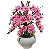 Ocean Pacific Fiori Artificiali Fiori Artificiali Orchidea Regalo Vacanza Soggiorno Matrimonio Festa Cucina casa Un Grande Ornamento pentola in Ceramica,Pink