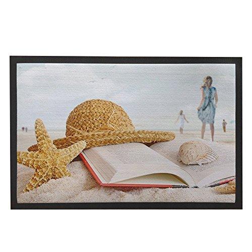Tropical Summer Funny Fußmatte für Home Beach Die Sauberlaufmatten Outdoor Innen vorne Fußmatte Fußmatte Outdoor Teppich Nautisches Antirutschmatte Home 59,9x 39,9cm (Outdoor-teppich Tropical)