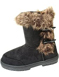 c784ccc06dc8 Ella Duffel Toggle Ladies Womans Festival Winter Snow Comfy Flat Ankle Knee  Calf High Fur Lined