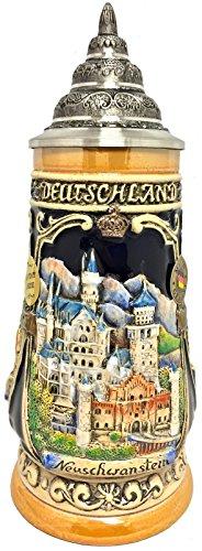 Pinnacle Peak Trading Company Neuschwanstein Castle LE Relief German Beer Stein .25 L Bavaria Germany -