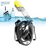 SFUN Maschera Subacquea, Occhiali da Immersione Che Permettono Una Facile respirazione, Maschera da Snorkeling con Funzione di stabilizzazione della Pressione dell'orecchio (Nero&Giallo)