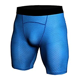 Aiserkly Herren Sporttraining Bodybuilding Sommer Shorts Training Fitness Kurze Hosen Blau 3XL