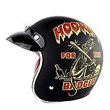 CHEYAL Harley Retro Helme Chopper Vintage Motorradhelm Motocicleta Halbhelm mit offenem Gesicht Roller Helm Pilot Motorradhelm,XXL62~63CM