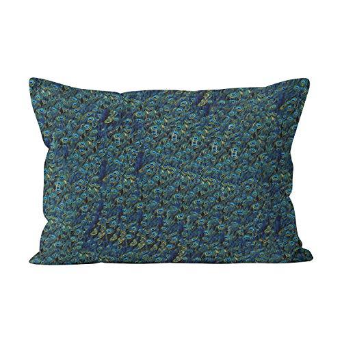 Suklly Kissenbezug, mit verstecktem Reißverschluss, Marineblau/weiß, Baumwolle, Color 03, 12