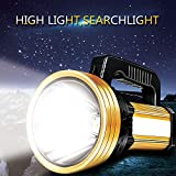 CRD PRODUCTS 20000 Lumen Handheld Spotlight Portable USB Built-in Rechargeable LED Searchlight Lantern