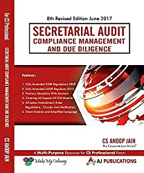 Secretarial Audit Compliance Management and Due Diligence for CS Professional June 2017 Exam