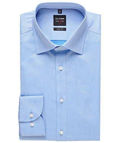OLYMP -  Camicia classiche  - Basic - Con bottoni  - Maniche lunghe  - Uomo Blu