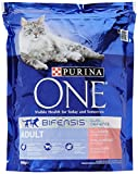 Purina ONE Adult Dry Cat Food Salmon and Wholegrain 800g - Case of 4 (3.2kg)