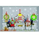 OHQ Frohe Weihnachten Haushalt Zimmer Wandaufkleber Wandbild Dekor Aufkleber Abnehmbar