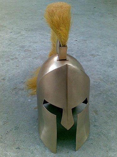 New Leonidas 300 Spartan Helmet With yellow Plume by NAUTICALMART