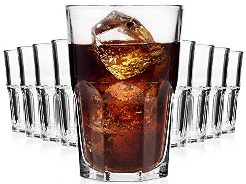 Bluespoon Gläserset Trattoria 9 teilig | Füllmenge 350 ml | Trinkglas Höhe 12,5 cm | Klassiches Universalglas geeignet für Wasser, Säfte, Longdrinks oder Cocktails
