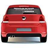 malango® Autoaufkleber - Feuerwehr Überholen Sie ruhig- Wir schneiden Sie raus Autosticker Berufsfeuerwehr FFW Sticker ca. 100 x 22 cm flieder