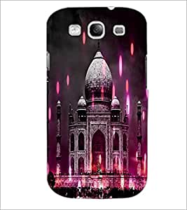 PrintDhaba Taj-Mahel D-3865 Back Case Cover for SAMSUNG GALAXY S3 (Multi-Coloured)