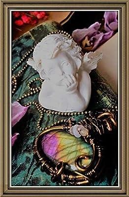"""Pendentif labradorite - collier pendentif - pierre de lune -""""Être aimé"""" Par Angel'S SignS"""