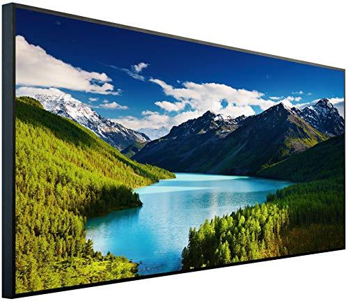 InfrarotPro | Infrarotheizung 750 Watt | Bildheizung 120x60x3 cm | Made in Germany | Geprüfte Technik | Ultra-HD Auflösung | (See in Österreich)