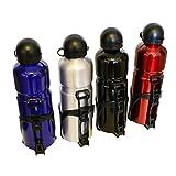 Alu Trinkflasche Rot mit Fahrradhalterung- Sport Wasserflasche - 750ml Ideale Sportflasche - für das Fahradfahren, Laufen, Fitness, Yoga, Im Freien und Camping Trinköffnung mit Zug- und Druckverschluss (Rot)