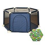 WYJW Baby Laufgitter Matratze Kleinkind Sicherheit Spielplatz Activity Center Anti-Kollisions-Anti-Rollover mit Tür 6 Panel Playard (Größe: 180x; 66,5 cm)