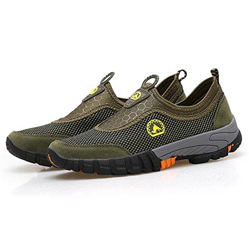 Gracosy sneakers da uomo scarpe slip on in esecuzione leggero sport maglia esterna sneakers traspiranti scarpe sportive estive mocassini estivi da passeggio