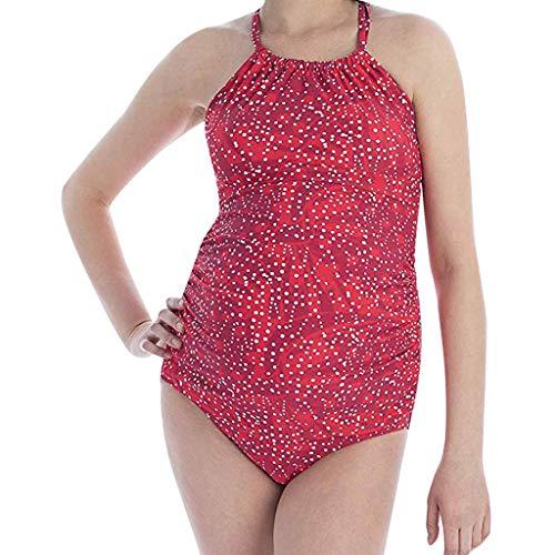 Pageantry Damen Einfarbig Zwei Stück Badeanzug Gradient Bikini Schwangere Tankinis Print Bikinis Beachwear Schwangere Sommer Beiläufig Strand Umstandsmode Elegant Bikini (Zwei Wie Bekomme Ich)
