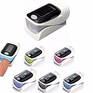 DOBO® Saturimetro ossimetro da dito ossigeno sangue misuratore display impulso impulso frequenza cardiaca - Colore Casuale