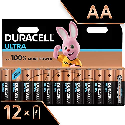 Duracell Ultra Power Piles Alcalines Type AA, Lot de 12 Piles (Visuel non Contractuel)
