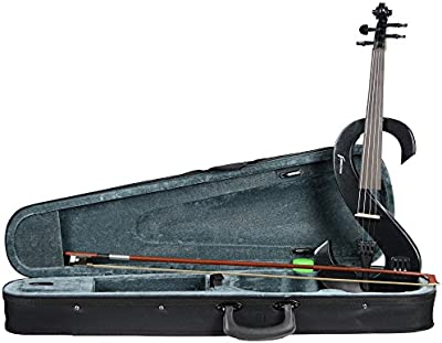 ROCKET VNE44BK violín eléctrico Outfit - Negro metálico