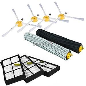 Bosaca Wartungskit für die iRobot Roomba Serie 800 860 866 870 871 880 886 890 900 960 966 980 - Ersatzteile und Zubehör - Offizielle 24-Monate-Garantie
