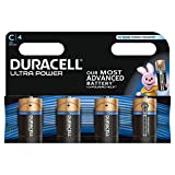 Duracell Ultra Power Typ C Alkaline Batterien, 4er Pack