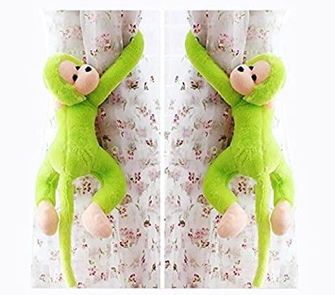 1 Paar umarmt Affe Vorhang dekorativen Schnallen, grün Gibbons