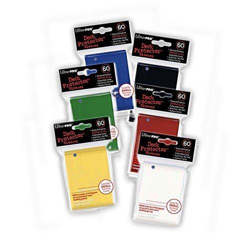Ultra-Pro - 6x Deck Protektor Sleeves (60) Hüllen small japanisches Format in den 6 Hauptfarben im Spar-Set Yu-Gi-Oh!
