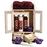 BRUBAKER Cosmetics - Coffret de bain - Chocolat - 10 Pièces - Armoire en Bois - Idée cadeau