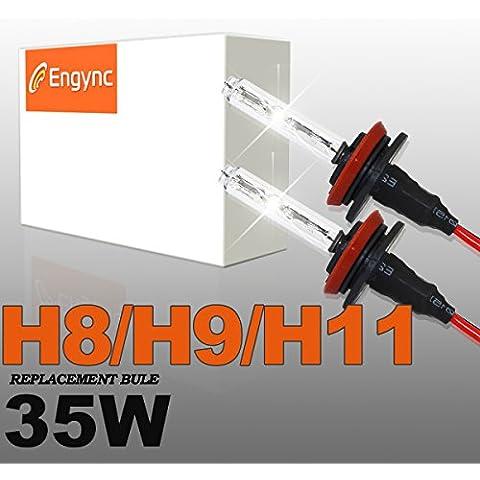 HID Engync 35W H8 xeno lampadine di ricambio   Hi / Low luce bianca con una sfumatura di colore blu