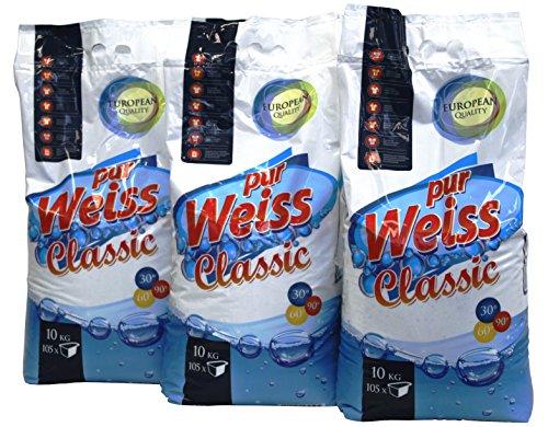 Waschpulver Pur Weiss Classic 3 x 10 kg-Sack