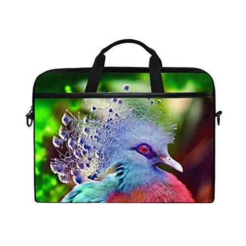 Bennigiry Colorful Victoria gekrönt Taube Laptop Messenger Umhängetasche Aktentasche für 35,6-39,6cm Notebook Computer -