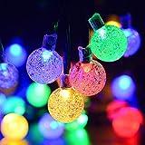 Kaiercat Luci a Filo Solari da Esterno, Luci Sferiche Impermeabili per Giardino, Patio, Cortile, Casa, Albero di Natale e Decorazioni Natalizie (Multicolore)