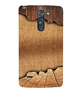 PrintVisa 3D Jute & Wood Pattern 3D Hard Polycarbonate Designer Back Case Cover for LG G3 STYLUS