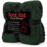 Snug Rug Special Edition Luxury - Manta de lana sherpa, color verde, 127 x 178 cm