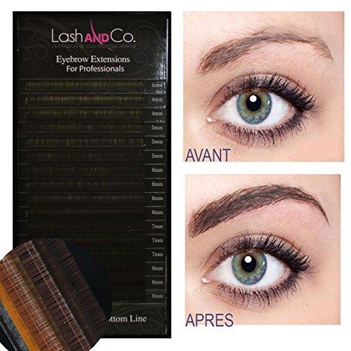 Lash & Co - Extensions de sourcils - Boîte de 4000 cils - - Châtain