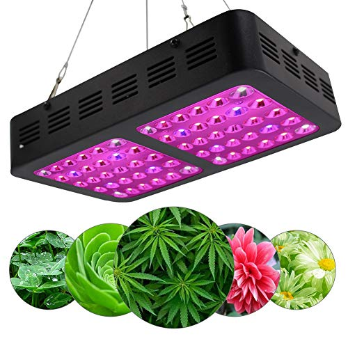 YLOVOW 600W LED Plant Grow Light, Monitor, mit verstellbarem Seil, UV/IR, Vollspektrum-Switch Pflanzenlicht für Zimmerpflanzen Veg und Blume