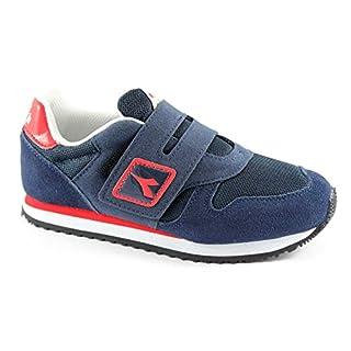 Diadora 160.922 K Run SJR Blue Denim Blaue Schuhe Jungen Sneakers Hautgewebe 38
