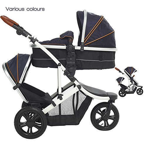 JOGGER Fitty Double Tandem Travel System Kinderwagen